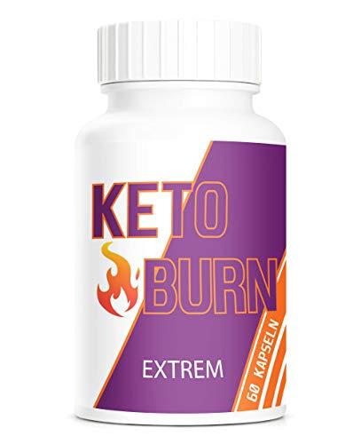 PowerSupps KETO BURN EXTREM Kapseln mit hochwertige natürliche Inhaltsstoffe wie Grüntee, Ingwer, Koffein und Cayennepfeffer- SCHNELL - STARK - STOFFWECHSEL