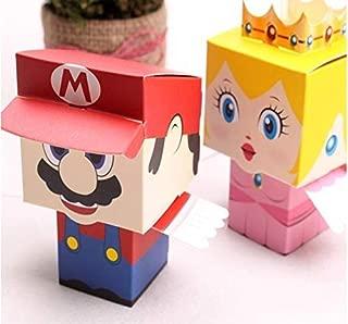 60 Pcs/set Super Mario Bros Princess Candy Boxes Children Birthday Box, Party Box, Sweets Box