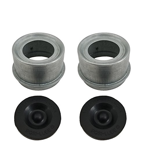 Rockwell American Posi-Lube Grease Cap Set - Fits Most 2,000 to 3,500 lb Axles - 1.98  OD - Galvanized