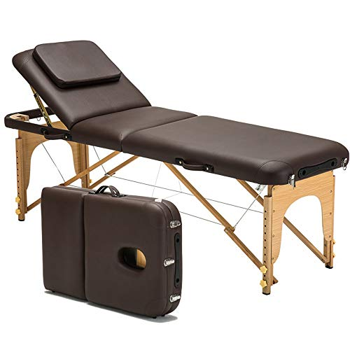 Table de Massage Table de Massage Pliante Reiki légère en Bois Professionnel Beauté Spa Portable...