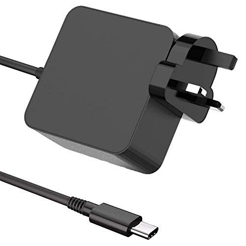 65W USB C Power Adapter Laptop Charger PD Power Supply for Lenovo,HP, ASUS, Acer, Dell, Xiaomi Air, Huawei Matebook, MacBook Pro, Thinkpad and Other Type C Devices