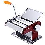 Robusta macchina per la pasta fatta in casa Pasta Maker Machine in acciaio inox Pasta Roller Macchina manuale creatore della tagliatella Pasta Cutters 6 regolabile Spessore impostazioni perfette for S