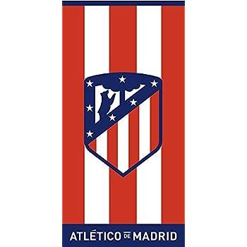 152x76cm Toalla de Terciopelo Oficial del Club Atl/ético de Madrid Rayas 03