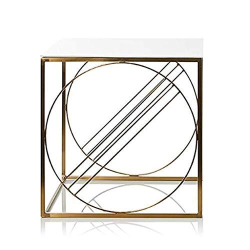 table basse nordique art de fer simplicité moderne loisirs balcon table baie vitrée (taille : 40cm*40cm*40.5cm)
