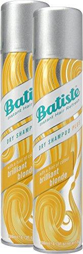 Batiste Brilliant Blonde Champú en seco con un toque de color para cabellos rubios, para todos los tipos de cabello, pack de 2 (2 x 200 ml)