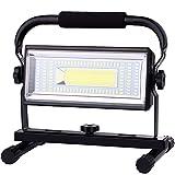 Luz de Trabajo LED Recargable, 100W Super Brillante Foco LED Trabajo Portátil Recargable USB para Jardín, Taller, Garaje, Camping, Obra, 6 Modos, Impermeable IP65 (Batería Incluida) (Negro)