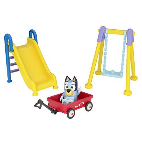 Bluey Park Playset 2.5' Figure, Wagon, Swing Set, and Slide
