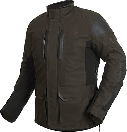 Rukka Melfort Gore-Tex Chaqueta textil para motocicleta, color marrón oscuro, 56