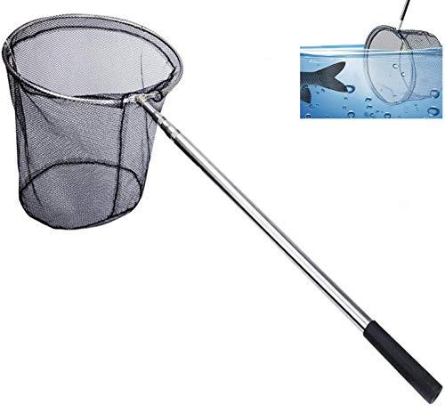 Kescher Angeln, Xndryan 180cm Teleskop Kescher Angelrute mit Langem Griff, Kescher Fischen Faltbare Fischernetz, Karpfen Forellenangeln Kescher für Teiche