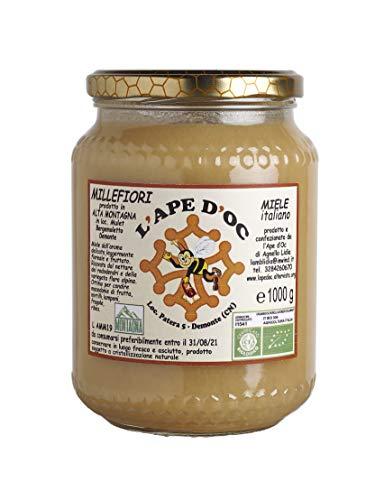 L'Ape d'Oc, Miele di Millefiori di Alta Montagna; biologico, italiano, presidio slow food - Gr. 1000