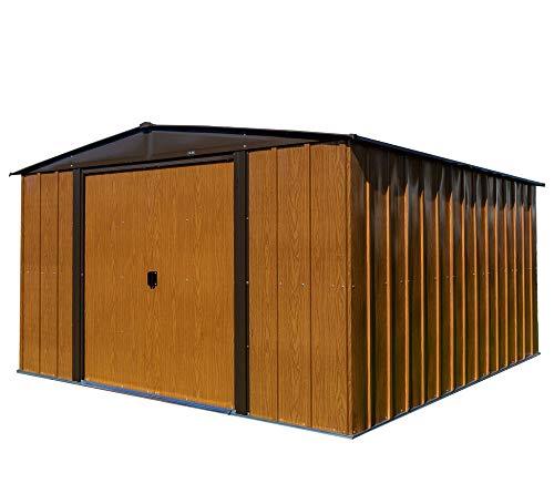 Spacemaker Gerätehaus Gartenhaus Geräteschuppen Woodlake 10x12 Holzoptik, 313x370 cm