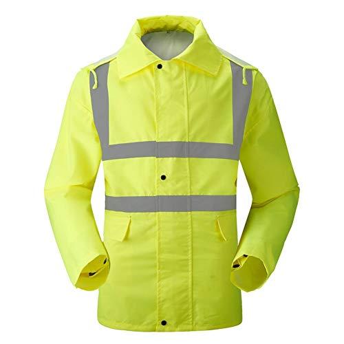 Beständig Dusche Proof Regen Repellent Windsicher Abnehmbare Kappe Reflective Raincoat Verlängerte Wasserdichte Arbeitskleidung Aufbau Sicherheitsbekleidung (Size : XXXL)