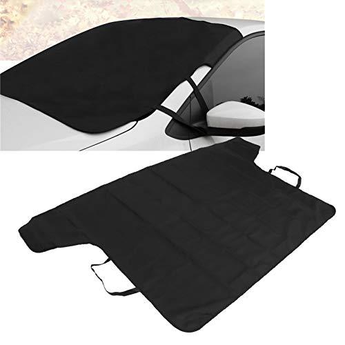 Autovoorruit Cover Autovoorruit Regenbestendige Zonnescherm Sneeuwbestendige Beschermhoes Auto-accessoire, voor bescherming van de voorruit, Hoge kwaliteit Duurzaam Zwart 190.5x107cm
