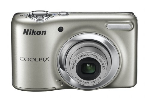 Nikon COOLPIX L25 Compact Digital Camera - Silver (10.1MP, 5x Optical Zoom) 3 inch LCD