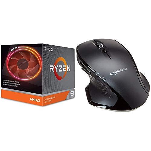 AMD Processori Ryzen 9 3900X & AmazonBasics Mouse wireless ergonomico fullsize con scrolling rapido