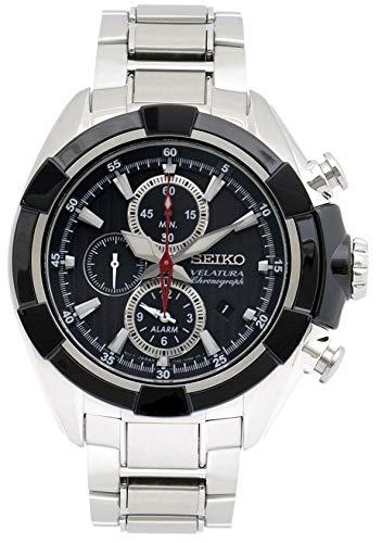 Seiko SNAF39P1 - Reloj de Cuarzo para Hombre, Correa de Acero Inoxidable Color Metalizado