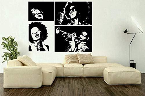 Pegatinas de pared de vinilo cantante estadounidense estrella música en casa café ventana...