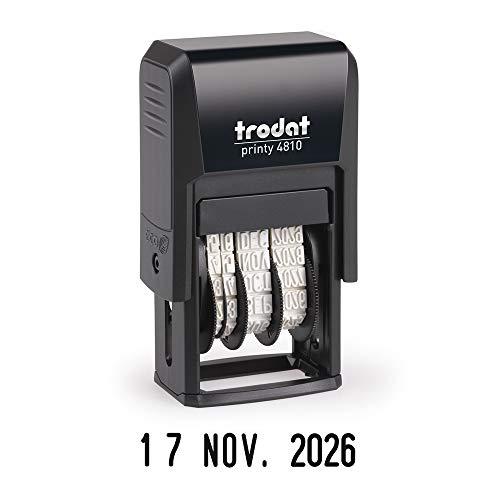 Trodat Printy 4810 datumstempel Trodat Printy - datum op het Frans - stempelkussen automatisch navulbaar - afdrukformaat 20 x 3, 8 mm