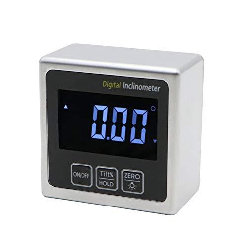 RongWang Digital Goniómetro inclinómetro del prolongador con Base magnética y retroiluminada de Metal de precisión Digital Transportador
