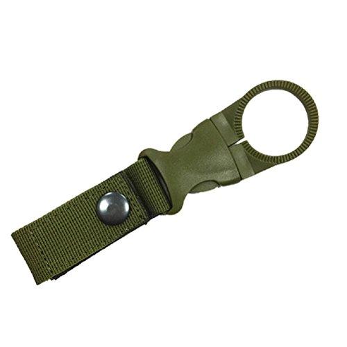 WINOMO Bouteille D'eau Clip Boucle Crochet Ceinture pour Sport Tactique Camping Extérieur (Vert de l'armée)