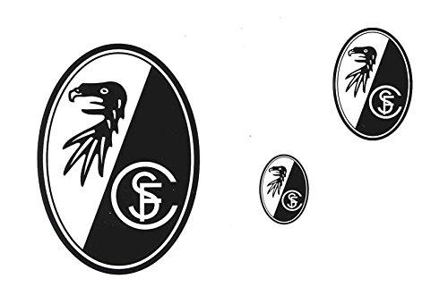 Unbekannt Aufkleberkarte DREI Wappen SC Freiburg kombatibel - Aufkleber, Sticker, Autoaufkleber, esichtaufkleber etiqueta engomada, autocollant