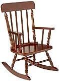 Gift Mark Children's Spindle Rocking Chair, Cherry