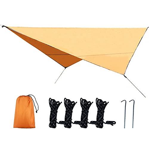 MiOYOOW Lona para tienda de campaña, lona impermeable, resistente a los rayos UV, refugio para supervivencia, picnic, senderismo, picnic