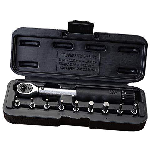 Hellery Kits de Mantenimiento de Caja de Almacenamiento de Llaves Dinamométricas Premium de 1/4'de 2 a 14 Nm para Bicicletas