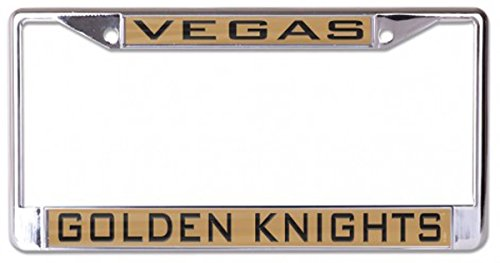 Wincraft Vegas Golden Knights License Plate Frame, metal with inlaid acrylic, 2 mount holes