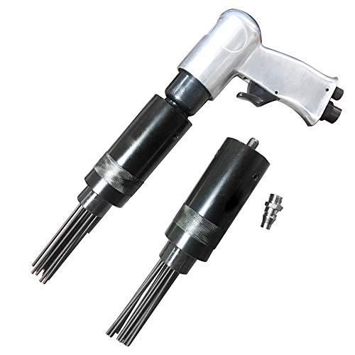 Schimiga Druckluft Nadelentroster Rostentferner Ersatzkopf Mit Ersatzkopf 3000 rpm max 6.3bar Nadelpistole 19 Nadeln 3mm x 180mm Entroster und Lackentfernung Multifunktionale Werkstatt Werkzeuge