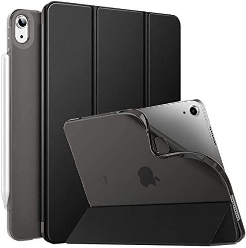 MoKo Funda para iPad Air 4ta Generación 2020 Nuevo iPad 10.9 2020, [Admite Carga Inalámbrica Apple Pencil] Cubierta Protectora Delgada Trasera Transparente TPU Auto-Reposo/Activación, Negro