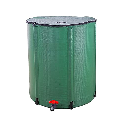 SHIJINHAO Cubo de Almacenamiento de Agua Flexible Plegable, Paño Impermeable de PVC Filtro Superior, con Grifo Usado para Viaje, Irrigación de Tierras de Cultivo (Color : Green, Size : 225L/60x80cm)