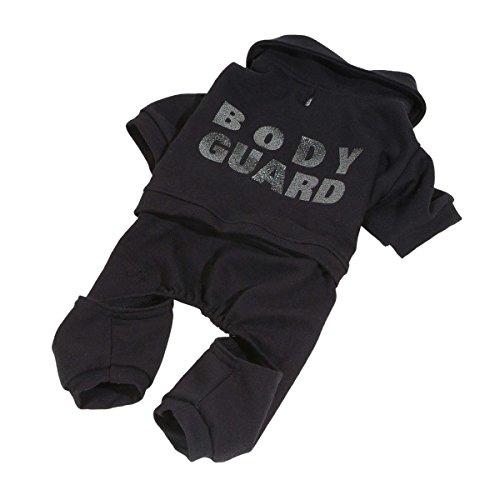 dogOne Hunde-Jogginganzug Bodyguard schwarz Baumwolle
