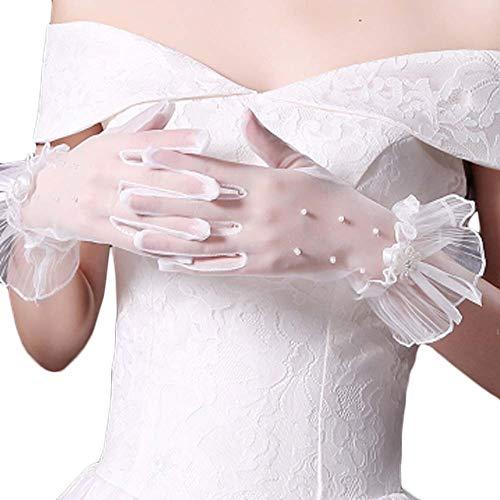 Gants de mariée mariage robes de soirée dentelle gants courts B12