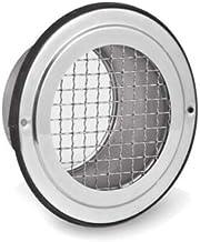 Roestvrijstalen ventilatierooster lamellengordijn weerbeschermingsrooster afvoerkap luchtkap (SVB, Ø 150 mm)