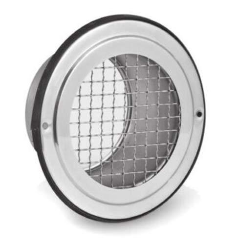Rejilla de ventilación de acero inoxidable con láminas de protección contra la intemperie (SVB, diámetro de 150 mm)