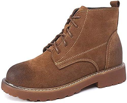 Top ShishangLeder Damen Stiefel Herbst und Winter Modelle Martin Stiefel Stiefel Stiefel British Wind Schrubben in der Flachen Unterseite  weltweit versandkostenfrei