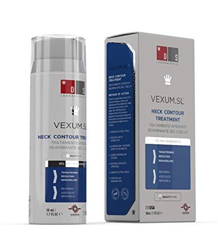 DS Laboratories Vexum SL - Tratamiento reductor para doble mentón. Reafirmante de cuello y escote que ayuda a eliminar la papada y el doble mentón. 50 ml.
