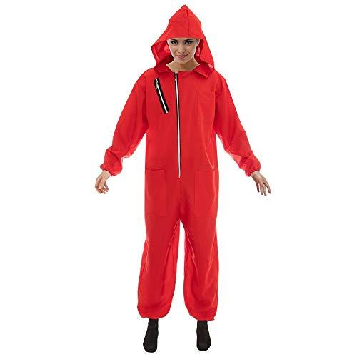 Disfraz de ladrn Rojo para los fanticos de la casa del Dinero 2tlg Monos mscara Rojo - S