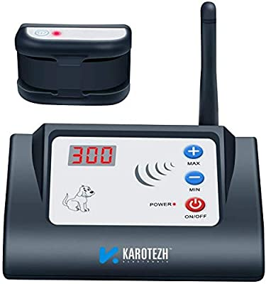 KAROTEZH Wireless Dog Fence for Pet, Invisible Electric Dogs Containment System with Adjustable, Rechargeable, Waterproof Training Collar & Stable Signal for Indoor Outdoor