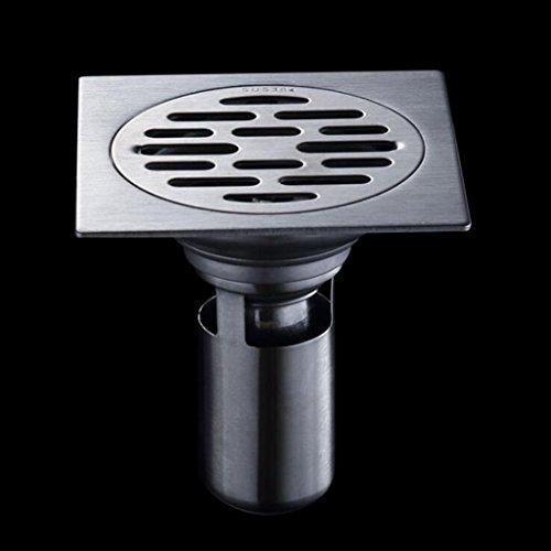 Ambiguity Drenaje de Piso de Acero Inoxidable baño balcón Anti-olores de Drenaje...