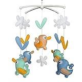 Campana de cuna Regalos hechos a mano Juguete colorido del bebé Cuna móvil Juguete colgante de cama de bebé K01