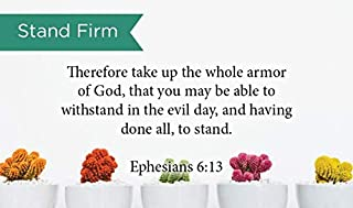 Pass Along Pocket Scripture Cards, Stand Firm, Ephesians 6:13, Pack of 25