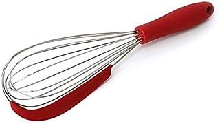 Fmdagoummziddq Whisk, Stainless Steel Whisk Silicone Scraper Whisk Egg Whisk Manual Cooking Appliance Cream Butter Whisk K...