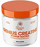 Genius Creatine Powder – Pro Post Workout Recovery Drink for Lean Muscle Gain | Creapure...