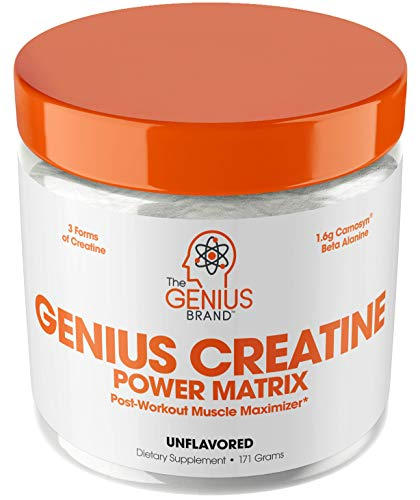 Genius Creatine Powder – Pro Post Workout Recovery Drink for Lean Muscle...