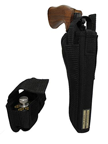 Barsony New OWB Holster + Speed-Loader Pouch for S&W N 57 625 627 629 M&PR8 Right