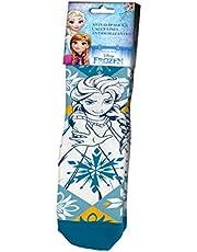 Kids Licensing | Calcetines Infantiles - Calcetines Diseño Frozen II - Estampado Elsa - Personajes Disney - Antideslizantes - Tejido Transpirables - Elástico en Arco - Licencia de Producto Oficial