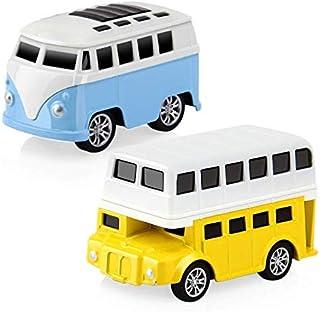 Toy Car Mitemix Mini Car Toys  2-Pack Pull Back Vehicles Mini Car Model Toys  alloy Vehicles for Kids Play Gift Set  Brigh...