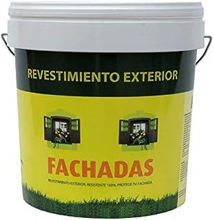 Pintura exterior fachadas Pectro   Pintura antihumedad   Pintura antimoho   Revestimiento exterior impermeable color Blanco (5KG)